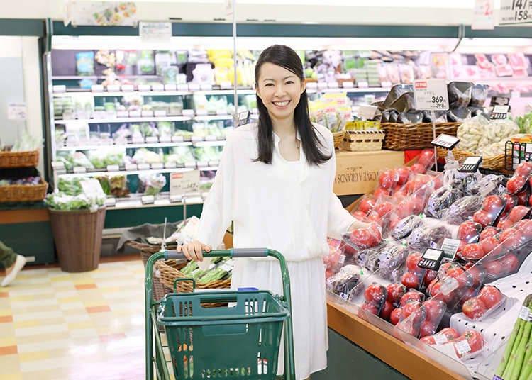 スーパーマーケットでは