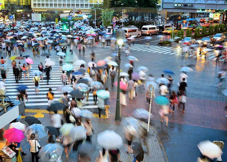 涩谷的行人自由通行交叉口