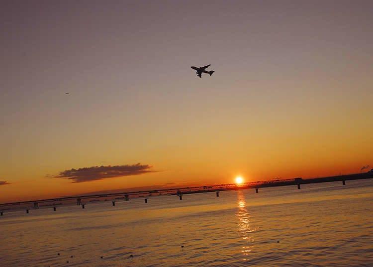 モーニング提案1:東京湾の朝焼けを楽しもう!