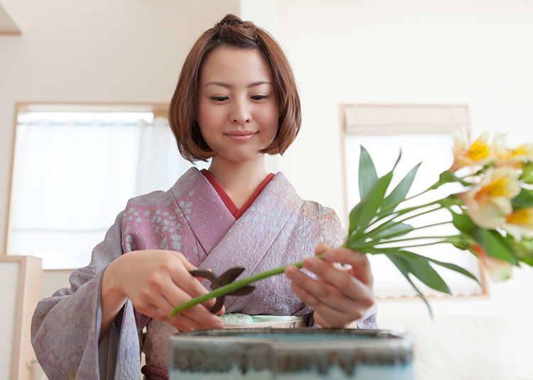 Ciri-ciri Ikebana