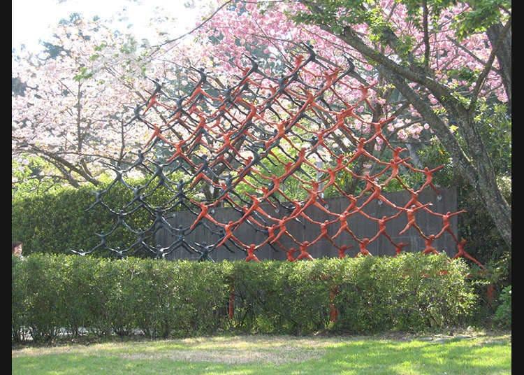 可以欣賞日本現代雕刻的美術館