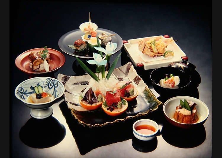 อาหารที่เสิร์ฟในร้านอาหารญี่ปุ่นดั้งเดิม
