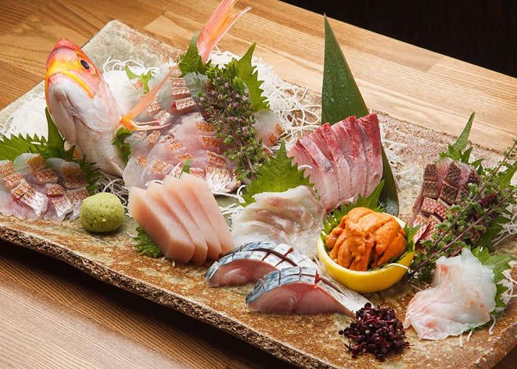 Sashimi (Hirisan ikan mentah)/ikan segar