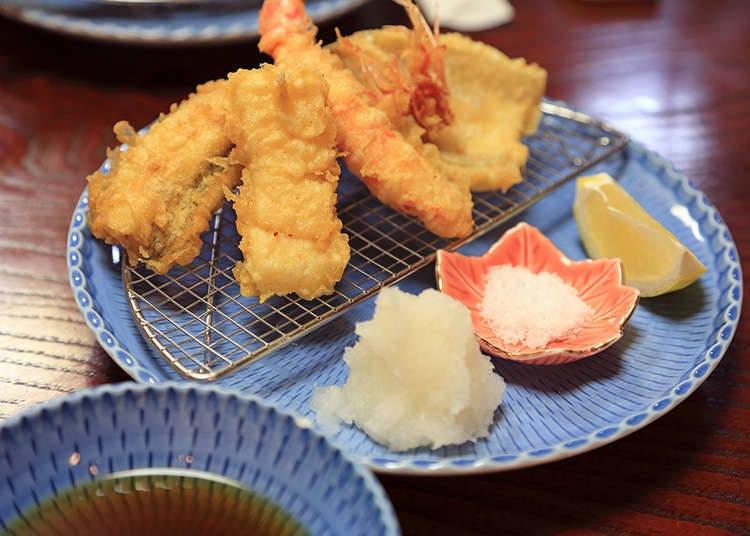 Cara makan tempura