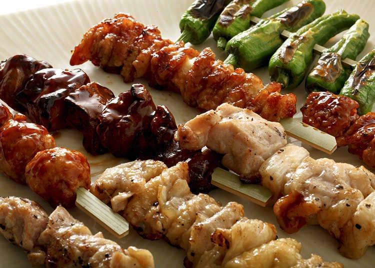 日式烤雞肉串的基本菜單