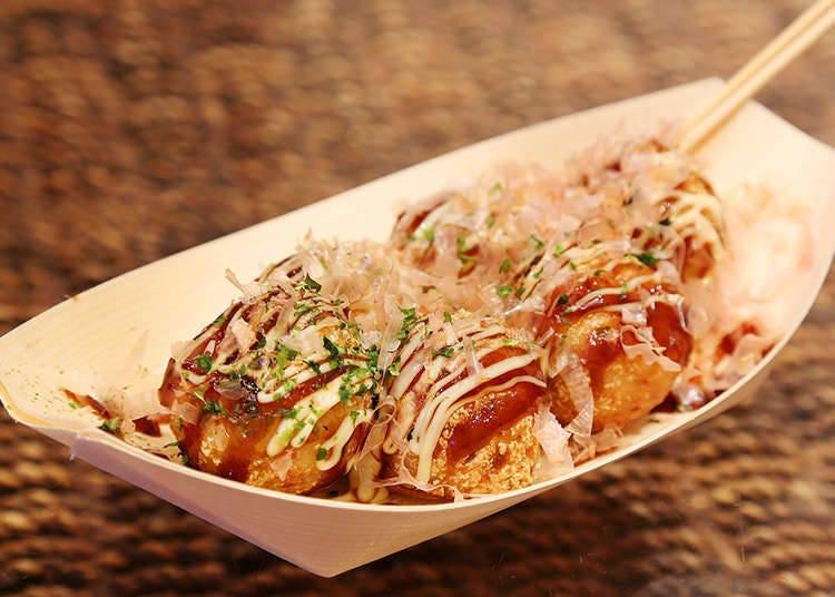 """""""ทาโกะยะกิ"""" อาหารที่มีรูปร่างคล้ายลูกปิงปอง"""
