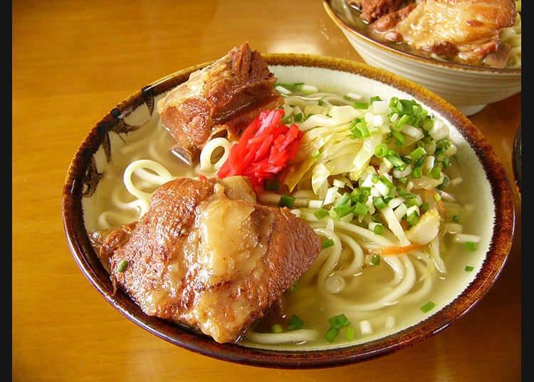 오키나와 특유의 고기 요리