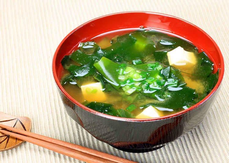 """""""Miso sup"""" dan """"osuimono"""" (sup berkuah dalam bahasa Jepun)"""