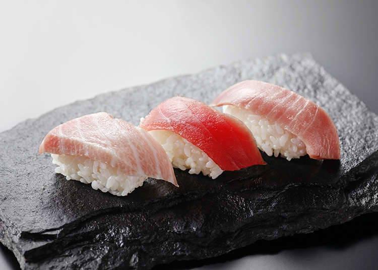 日本握壽司上的海鮮食材