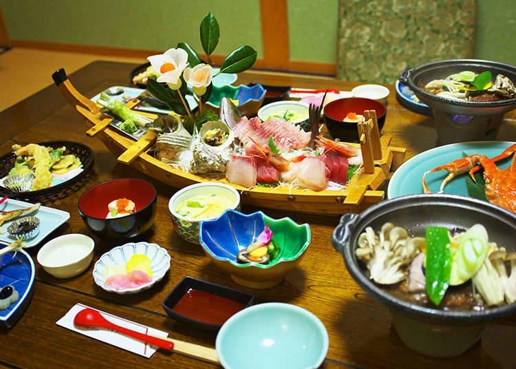 료칸의 식사와 목욕