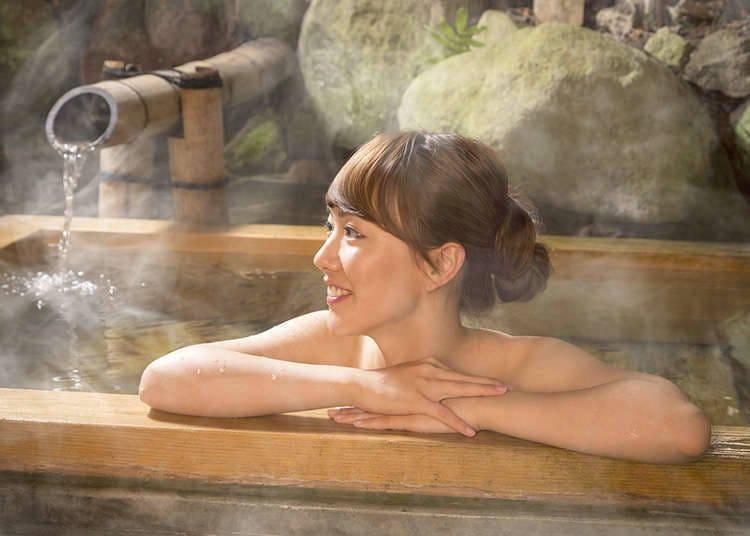 japansk onsen sex ren barberet ibenholt fisse