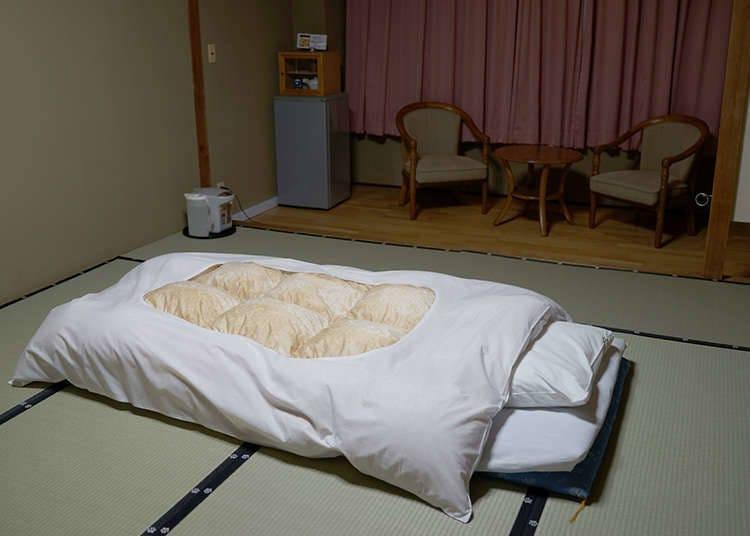 Semasa tidur gunakan futon (tilam nipis)