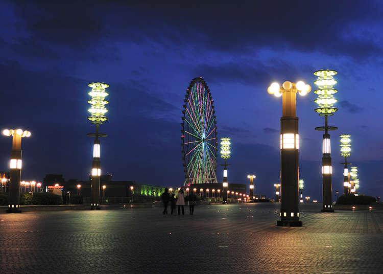 "Pemandangan malam yang cantik di ""Yume No Ohashi"""