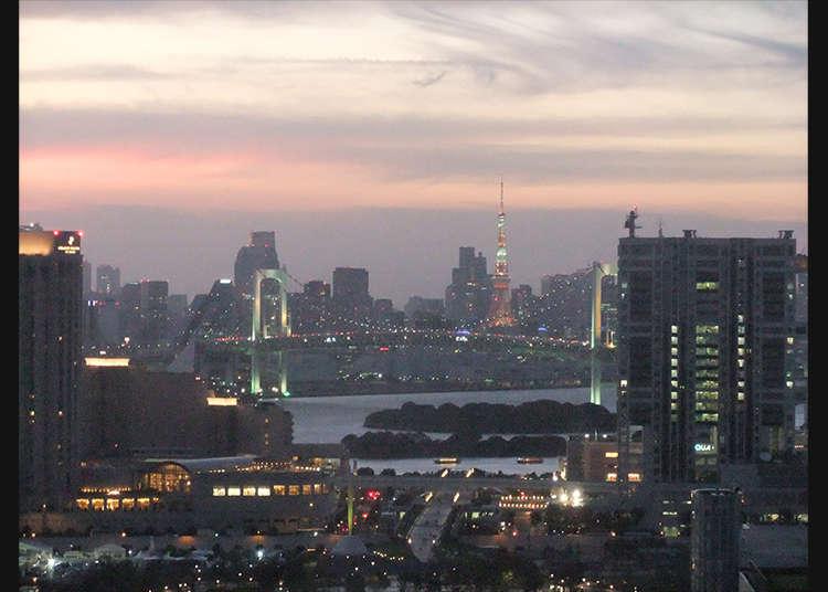 從「電信中心大樓(Telecom Center)展望台」看到的東京