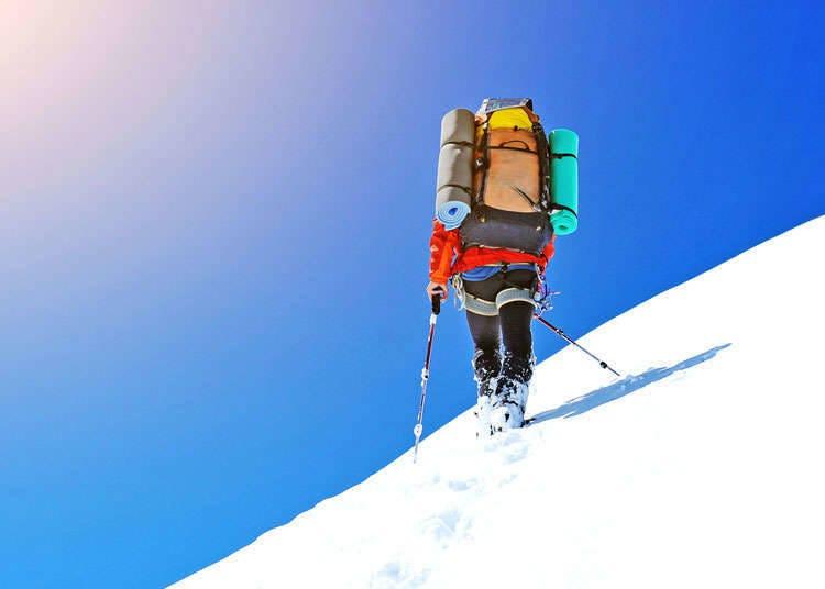 Pendakian dengan Sepatu Salju dan Ski Pedalaman