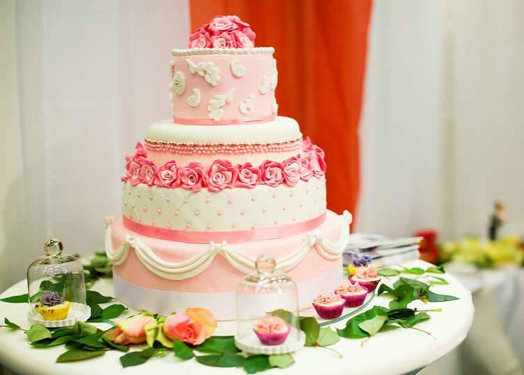 행사에 사용되는 케이크