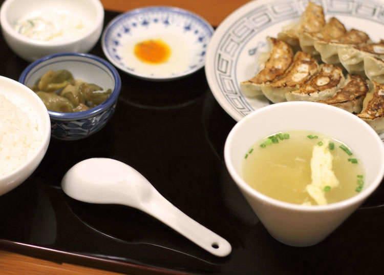 Set yang dimakan bersama gyoza