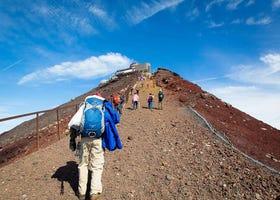 在富士山山顶上的体验