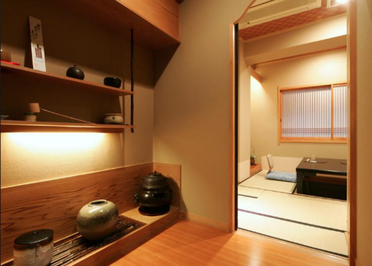 在充满历史感的和室空间享用日本传统烹调的味道
