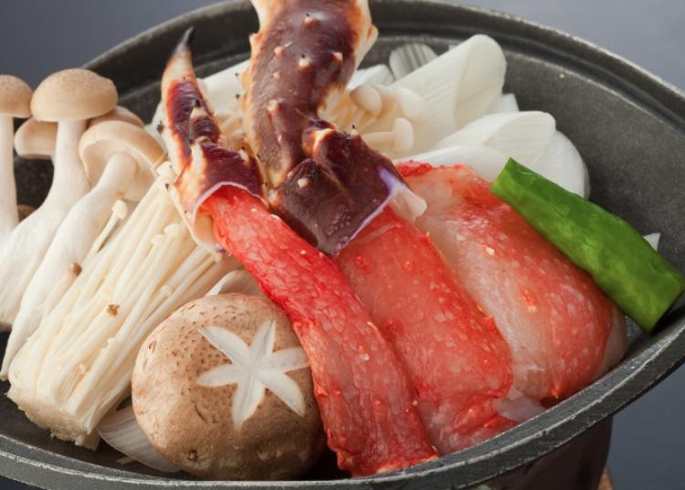 Hanya bagian paling enak dari kepiting dan daging sapi Yamagata