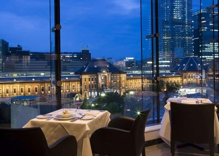 Restoran Prancis ternama, tempat  dapat menikmati pemandangan stasiun Tokyo selayang pandang