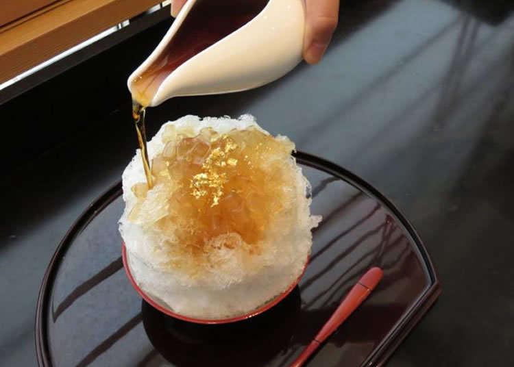 人気和菓子店が厳選素材で作るかき氷