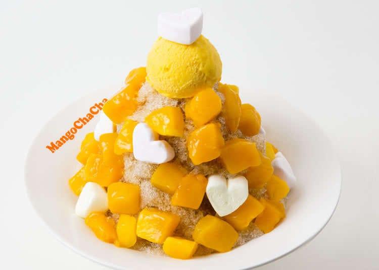 满是台湾产芒果的刨冰!