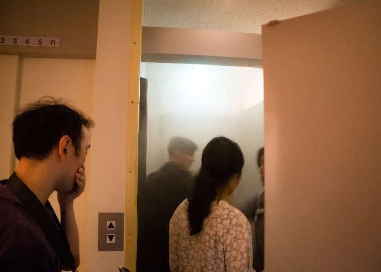 화재와 동시에 발생하는 연기 체험