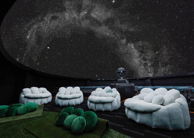 寝そべりながら眺める満天の星空