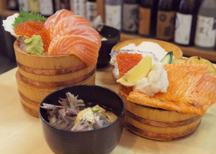 Minato Machi yang kaya dengan restoran makanan laut popular