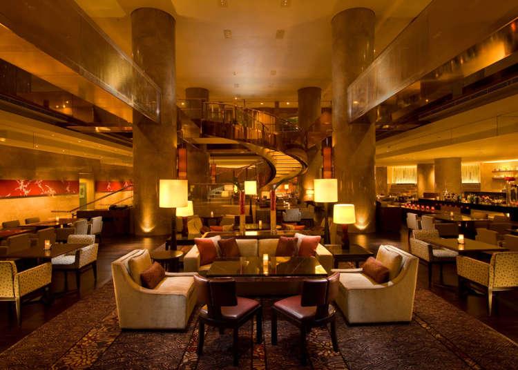 僅在大飯店才能享受到的開放性咖啡酒吧空間