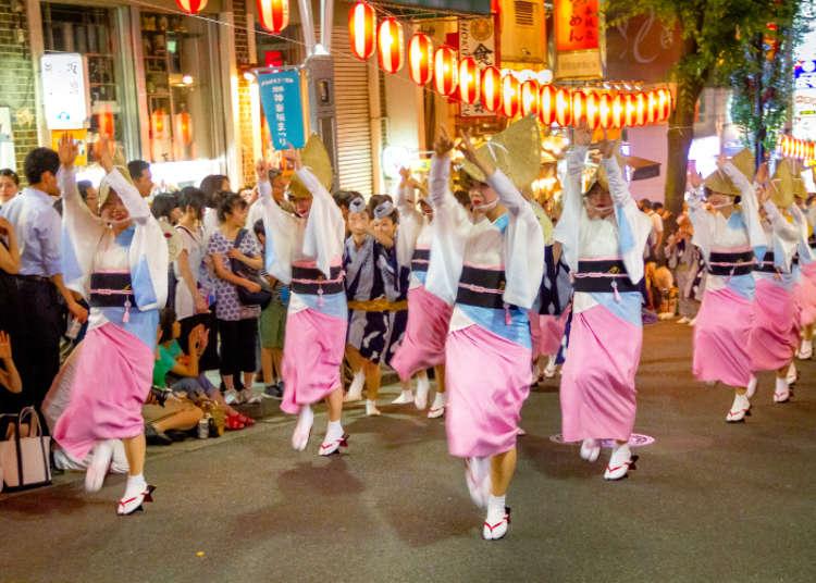 """日本夏日祭祀!""""神乐坂祭""""上表演阿波舞"""