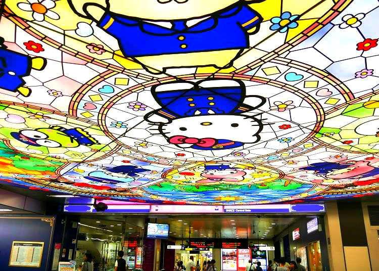 到東京第一可愛車站和Hello Kitty會面!