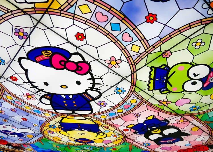 จับตามองเพดาน แสงสว่างจากเพดานที่ดีไซน์แบบกระจกสี stained glass