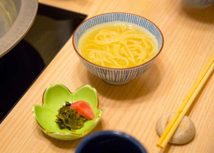〆はちゃんぽん麺か卵雑炊をチョイス