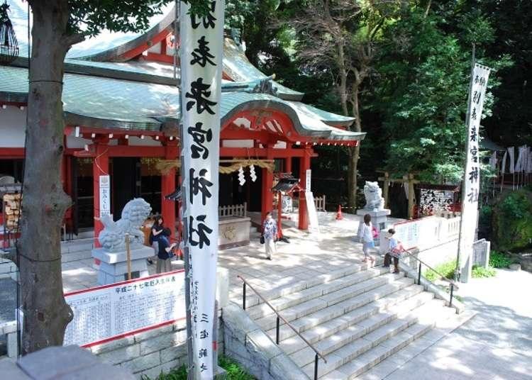 Kinomiya Shrine, which protects Atami