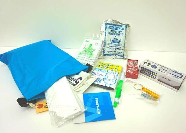 女性防災士所選 易於攜帶行走的緊急避難背包