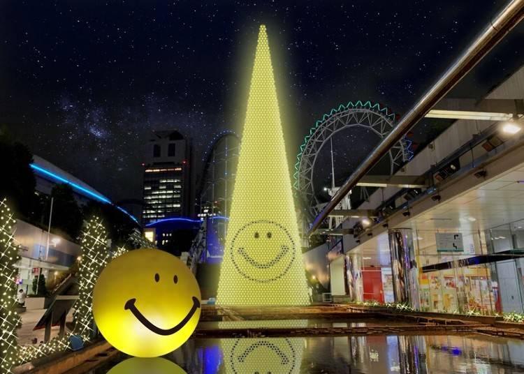 5. 모두가 웃음을 되찾길 바라는 마음을 담은 '도쿄 돔시티 윈터 일루미네이션 '스마일''