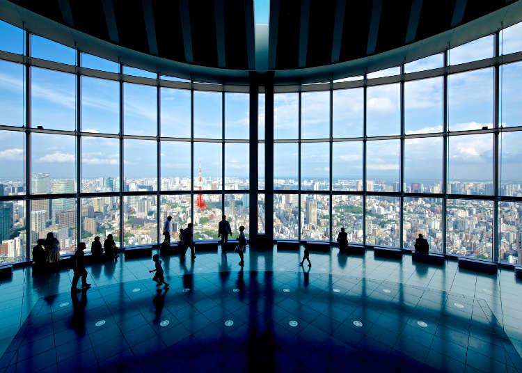 도쿄의 신구 랜드마크와 후지산을 조망