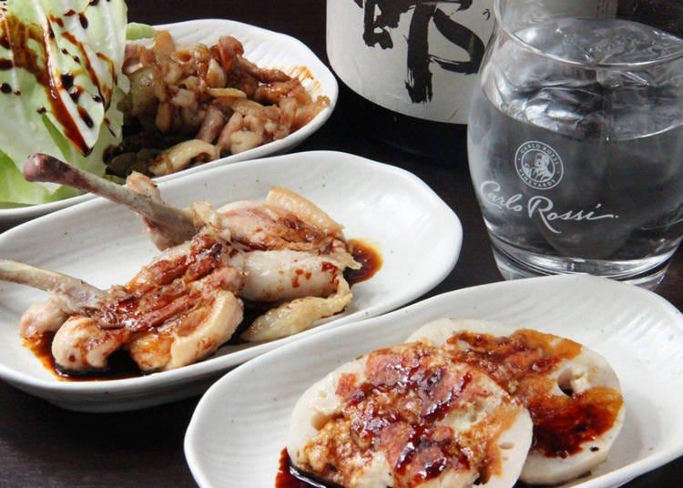 에히메현 이마바리시의 향토요리를 먹을 수 있다