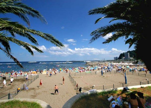 Atami Sun Beach: Resort area with a tropical atmosphere!