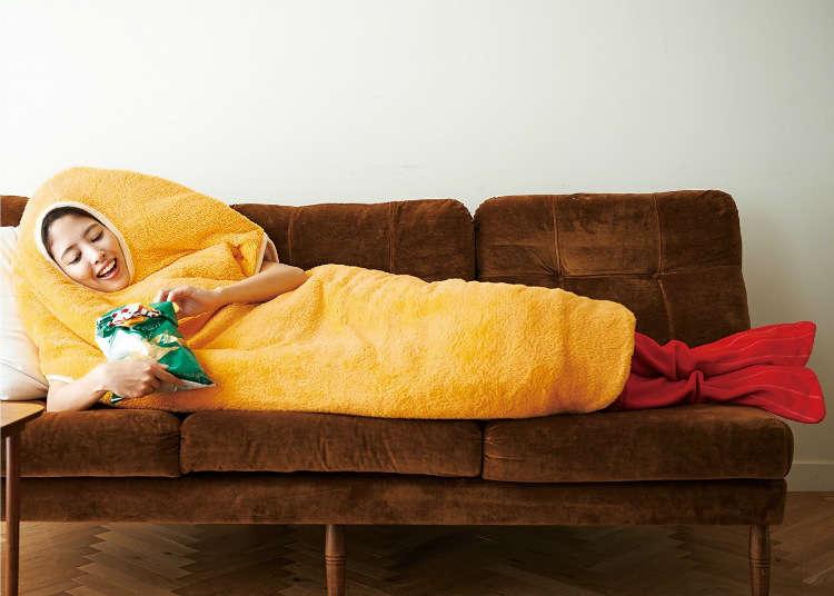 エビフライが寝袋に進化……!