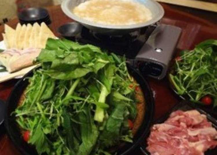 「草鍋」青菜・せり・パクチーをもしゃもしゃ食いまくる!