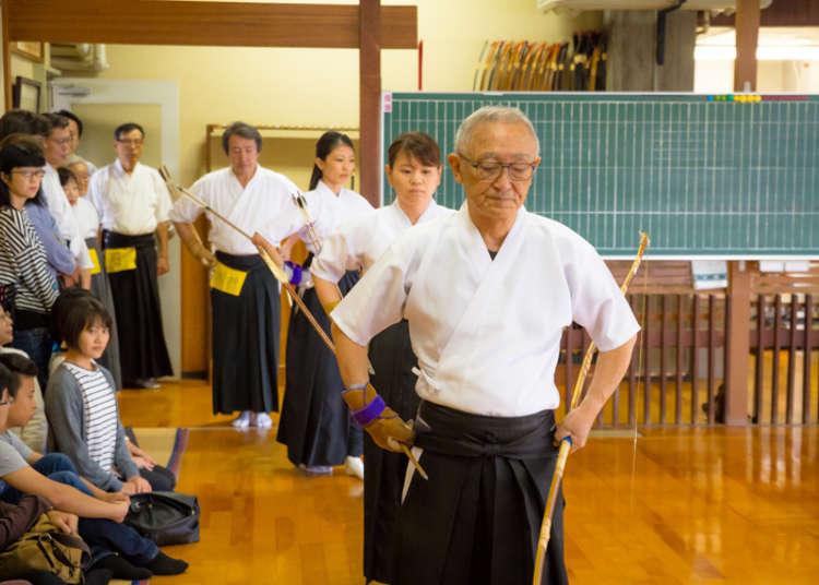 目黒区国際交流協会(MIFA)による弓道体験