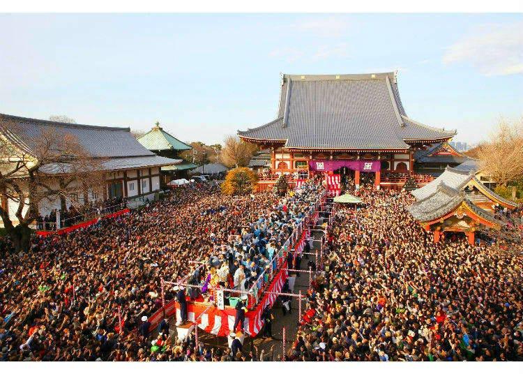 Setsubun at Ikegami Honmon-ji - Driving Out the Demons!