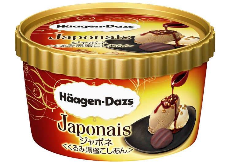 하겐다즈가 일본풍 아이스크림을 선보였다! '호두 흑밀 팥소'의 맛