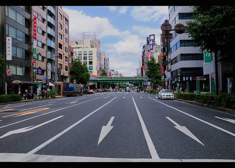เอโดะโดริและบริเวณโดยรอบ