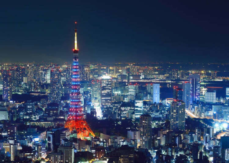 롯폰기 가이엔히가시 도리, 도쿄타워 주변 에리어