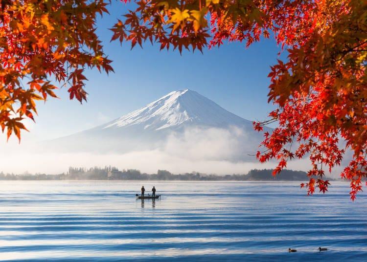 ซากุระในฤดูใบไม้ผลิ เทศกาลในฤดูร้อน ใบไม้เปลี่ยนสีในฤดูใบไม้ร่วง หิมะในฤดูหนาว