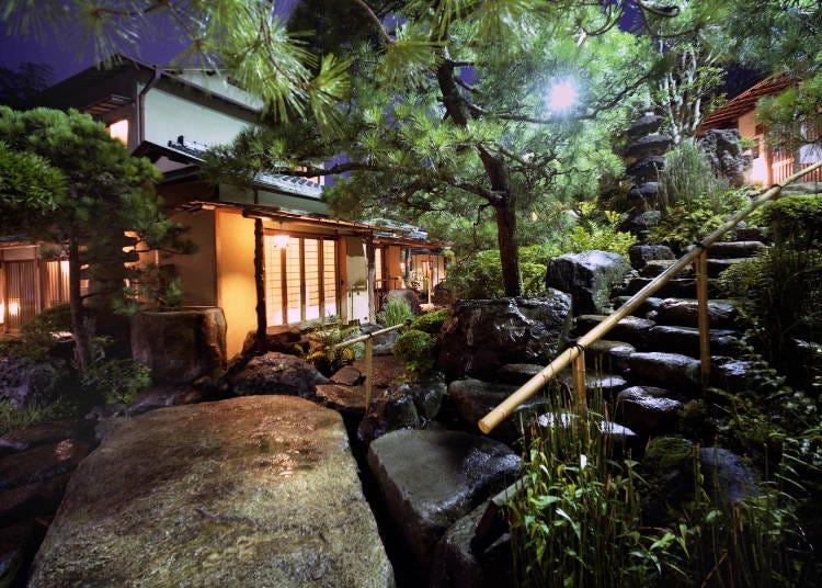 日本の建築美と庭園を堪能「あたみ石亭」